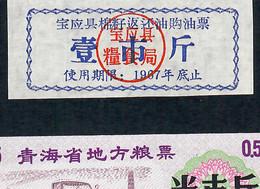 CHINA FOOD COUPON  1967  UNIFACE UNC. - China