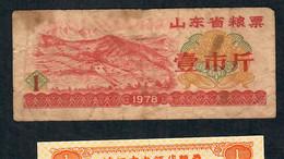 CHINA FOOD COUPON  1978  VF - China