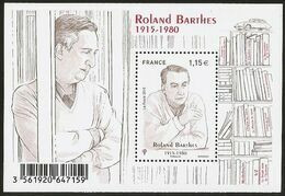 2015 - Bloc Feuillet F 5006  ROLAND BARTHES NEUF** LUXE MNH - Mint/Hinged