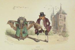 GRANVILLE-Métamorphoses Du Jour-Chauve Souris Chouette-1830 - Lithographies