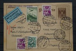 Austria Österreich Mit Luftpost Card Sent To Hungary Ungarn 1936 - Ohne Zuordnung