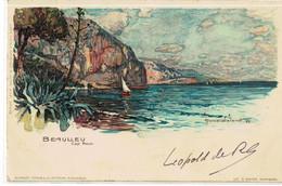 CPA   BEAULIEU  Cap Roux  N° 457  Illustrateur WIELANDT - Menton