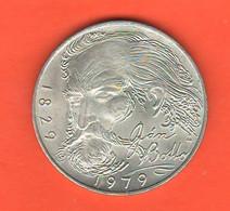 Cecoslovacchia 100 Corone 1979 Korun Czechoslovakia Kronen  X 150° Birth Jan Botto  Silver Coin - Czechoslovakia