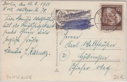 DDR - 12 Pfg. Weltfestspiele Jugend Karte Berlin - Göttingen 1951 Postkrieg ! - Cartas
