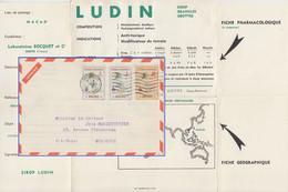 Macau - 2x3+10 A. Landkarte Luftpostdrucksache N. FRANKREICH 1957 - Zonder Classificatie