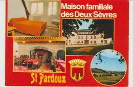 CPSM LA TOUR-D'AUVERGNE (63) SAINT-PARDOUX - MAISON FAMILIALE DES DEUX-SEVRES - MULTIVUES - FLAMME POSTALE - Otros Municipios