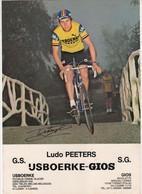 LUDO PEETERS    IJSBOERKE GIOS FORMAT 30 X 21 CMS - Cycling