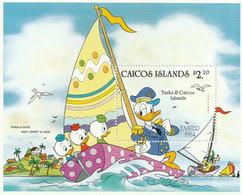 ILES TURQUES ET CAIQUES (Caicos Islands) - Donald Duck, Huey, Dewey, Louie - MNH - 1984 - Turks E Caicos
