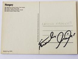 Laslo FAZEKAS - Dédicace - Hand Signed - Autographe Authentique - Soccer
