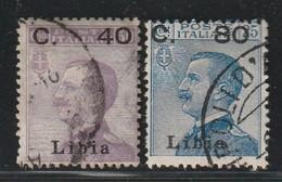 LIBYE - N°38/9 Obl (1922) - Libya