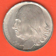 Cecoslovacchia 100 Corone 1977 Korun Czechoslovakia Socialist  Kronen  X 300° Death V. Hollar Silver Coin - Czechoslovakia