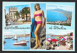 CASTELLAMMARE DI STABIA CON PIN-UP VG. 1966 NAPOLI N° B215 - Castellammare Di Stabia