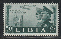 LIBYE - PA N°17 * (1941) Mussolini Et Hitler - Libya