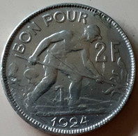 LUXEMBURG  MOOIE 2 FRANCs 1924 KM 36 - Luxembourg