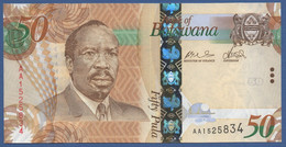 BOTSWANA - P.32a –  50 PULA 2009 UNC Prefix AA - Botswana