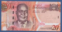 BOTSWANA - P.31a –  20 PULA 2009 UNC Prefix AA - Botswana
