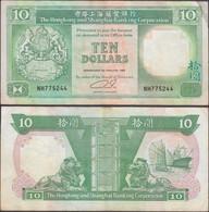 HONG KONG - 10 Dollars 1992 P# 191c Asia Banknote - Edelweiss Coins - Hong Kong