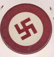Jeton De Casino Couleur Bordeaux - Croix Gammée - Nazi - III Reich - Hithler - Casino