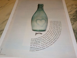 ANCIENNE PUBLICITE D AMOUR ER D EAU  PERRIER   1970 - Perrier