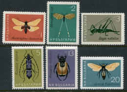 BULGARIA 1964 Insects MNH / **.  Michel 1446-51 - Nuevos
