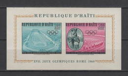 (S2067) HAITI, 1960 (Summer Olympic Games, Rome). Souvenir Sheet. Mi ## 632B, 635B (Block 14). MNH** - Haiti