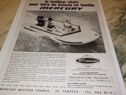 ANCIENNE PUBLICITE LE MEILLEUR CHOIX   MOTEUR MERCURY 1970 - Boats