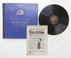 Cofanetto Fiaba Puccettino Di C. Perrault + 4 Dischi La Voce Del Padrone - 1942 - Collezioni