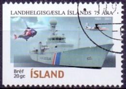 IJsland 2001 Kustbewaking Driezijdig GB-USED. - Gebraucht