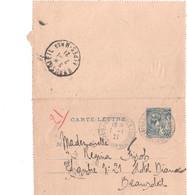 MONACO - 1921 -Entiers-  Carte-lettre  Du 25 Cts  Bleu ( Sur Chamois) Oblitéré  -Yvert N° 210 - Bon état - Entiers Postaux