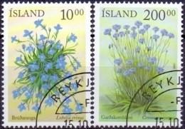 IJsland 2002 Bloemen GB-USED. - Gebraucht