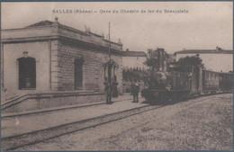 Salles , Train En Gare Du Chemin De Fer Du Beaujolais , Animée - Andere Gemeenten