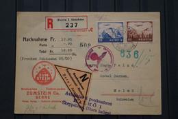 Schweiz Wartime Card Sent To Sweden Rembousement German Wartime Stamp - Briefe U. Dokumente