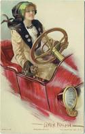 Illustrateur : LESTER RALPH. Femme En Voiture. Speeding Her Up. Art Nouveau. - Andere Illustrators