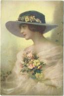 Illustrateur. Femme Et Chapeau. - 1900-1949