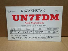 PAVLODAR (Kazakhstan) Carte Radio Amateur - Kazakhstan
