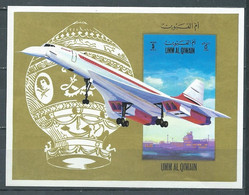 Umm Al Qiwain Bloc-feuillet Concorde Neuf ** - Umm Al-Qiwain
