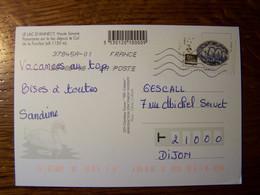 France - Sur Carte Postale - 2018 - N° YT 1529 - Le Lac D'Annecy - 1961-....