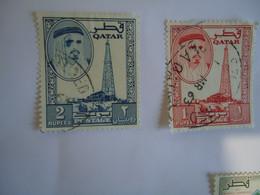 QATAR   USED   STAMPS  KINGS - Qatar