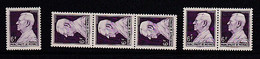 Mon111 Monaco YvT 304  Louis II  6 F Violet 1 Paire 1 Bde 31948-1949 N** (MNH) - Unused Stamps
