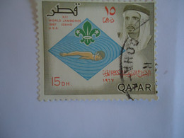 QATAR   USED   STAMPS  SCOUTING - Qatar
