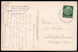 8691 - Dampfer Hindenburg Stempel Koblenz - Martin Herpich - Piroscafi