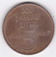 R.D.A. 5 Mark 1969, 20e Anniversaire De La Création, En Laiton De Nickel, KM# 22 - 5 Mark