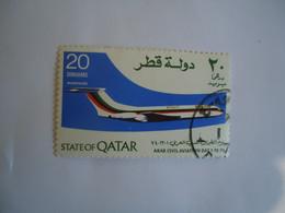 QATAR   USED    STAMPS  AIRPLANES - Qatar