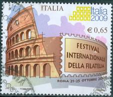 ITALIA, ITALIE, FESTIVAL INTERNAZIONALE DELLA FILATELIA, 2008, 0,65 €, FRANCOBOLLO USATO Mi.: IT 3228,  Scott: IT 2859 - 2001-10: Usados