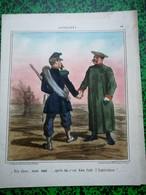 Guerre D'Italie: Litho Destouches, Dessiné Par Cham - Prints & Engravings