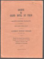1934 SOCIETE DU GRAND HOTEL DE PEKIN  PEIPING  BEIJING  Z15 - 1900 – 1949