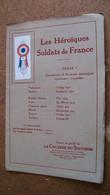 Les Héroïques Soldats De France - Série 1 - La Cocarde Du Souvenir - Zonder Classificatie