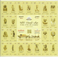 EGYPT- 2021 - THE PHARAOHS' Golden Parade) (22 Royal Mummies) 3 April 2021 - Mini Sheet - Unused Stamps