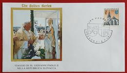 SLOVENSKO SLOVAKIA 1995 PRESOV JAN PAVOL II POPE JOHN PAUL II VISIT - Cartas