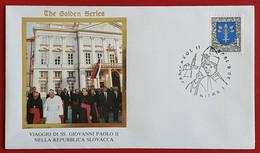 SLOVENSKO SLOVAKIA 1995 NITRA JAN PAVOL II POPE JOHN PAUL II VISIT - Cartas